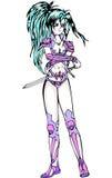 Bella ragazza con la spada Fotografia Stock