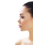 Bella ragazza con pelle fresca pulita Fotografia Stock