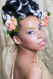 Bella ragazza con trucco di fantasia Fotografia Stock Libera da Diritti