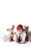Bella ragazza con un lollipop Immagini Stock Libere da Diritti