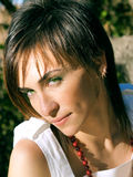 bella ragazza degli occhi verdi del ritratto Fotografie Stock Libere da Diritti