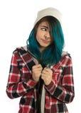 Bella ragazza dei pantaloni a vita bassa che guarda farward Immagine Stock Libera da Diritti