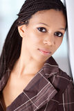 Bella ragazza del African-American fotografie stock