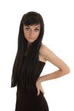 Bella ragazza del brunette Fotografia Stock