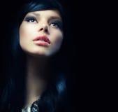 Bella ragazza del Brunette Immagine Stock