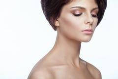 Bella ragazza del modello della stazione termale con pelle pulita fresca perfetta Fotografia Stock Libera da Diritti