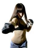 Bella ragazza di combattimento Fotografia Stock