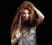 Bella ragazza di dancing Fotografie Stock