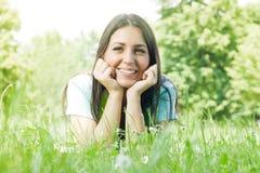 Bella ragazza di felicità Fotografie Stock Libere da Diritti