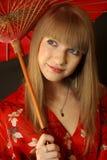 Bella ragazza di geisha Fotografie Stock Libere da Diritti