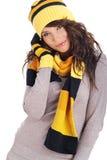 Bella ragazza di inverno Immagine Stock