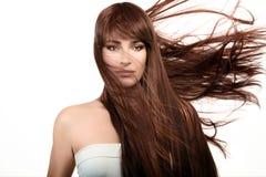 Bella ragazza di modello con capelli lunghi sani immagine stock libera da diritti