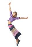 Bella ragazza di salto Immagine Stock Libera da Diritti