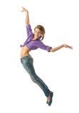 Bella ragazza di salto Fotografie Stock Libere da Diritti