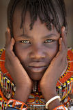 Bella ragazza di Turkana in Loyangalani, Kenya fotografia stock