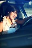 Bella ragazza dietro la rotella Fotografie Stock Libere da Diritti