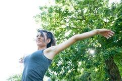 Bella ragazza felice sul parco di camaldoli Fotografia Stock