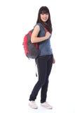 Bella ragazza giapponese dell'allievo del banco dell'adolescente Fotografia Stock Libera da Diritti