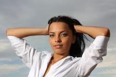 Bella ragazza green-eyed fotografia stock libera da diritti
