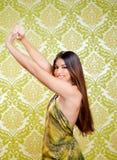 Bella ragazza indiana asiatica con capelli lunghi Immagine Stock