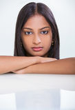 Bella ragazza indiana asiatica della donna del ritratto Fotografie Stock Libere da Diritti