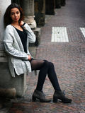 Bella ragazza marocchina a Padova Immagini Stock Libere da Diritti