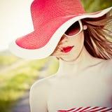 bella ragazza nel cappello immagini stock libere da diritti