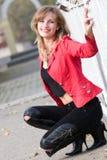 Bella ragazza nel colore rosso Immagine Stock Libera da Diritti