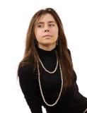 Bella ragazza nell'amore isolata sopra un backg bianco Fotografie Stock Libere da Diritti