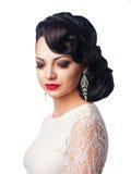 Bella ragazza nell'immagine della sposa Fotografie Stock