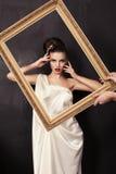Bella ragazza nello stile greco Fotografia Stock