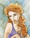 Bella, ragazza romantica royalty illustrazione gratis
