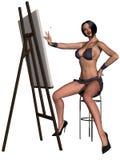 Bella ragazza sexy Pin-In su Fotografia Stock Libera da Diritti