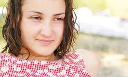 Bella ragazza sulla spiaggia #1 Fotografia Stock