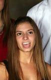 Bella ragazza teenager che canta Immagine Stock