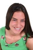 Bella ragazza teenager con le parentesi graffe Fotografia Stock