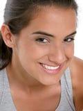 Bella ragazza teenager in vestiti di allenamento Fotografia Stock