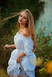 Bella ragazza ucraina in costume Fotografie Stock