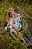 Bella ragazza ucraina in costume Immagine Stock