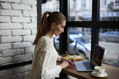 Bella ragazza in un maglione leggero Fotografia Stock