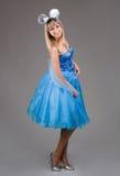 Bella ragazza in un vestito blu Fotografie Stock Libere da Diritti