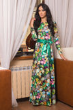 Bella ragazza in un vestito lungo Fotografia Stock Libera da Diritti