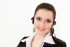 Bella ragazza in un vestito nero di affari Fotografia Stock Libera da Diritti