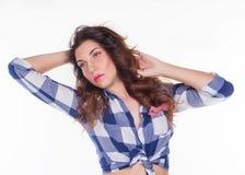 Bella ragazza in una camicia Fotografia Stock Libera da Diritti