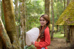 Bella ragazza vietnamita Immagini Stock