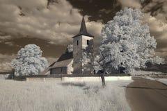 Bella regione infrarossa di Liptov della chiesa Immagini Stock
