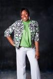 Bella risata africana della donna Fotografia Stock Libera da Diritti