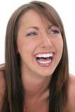 Bella risata della giovane donna Immagini Stock