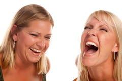 Bella risata della sorella due Fotografia Stock Libera da Diritti