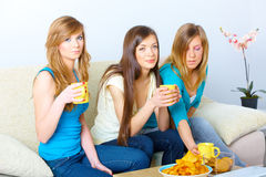 Bella riunione delle ragazze immagine stock libera da diritti